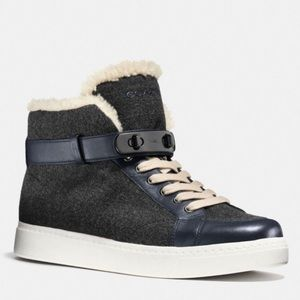 Coach Richmond Shearling Women High Top Sneaker